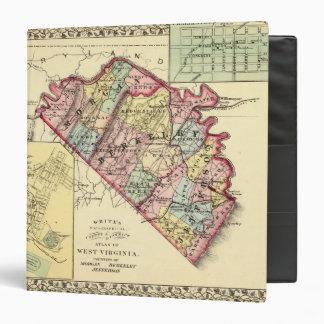 """Mapa de los condados de Morgan, de Berkeley, y de  Carpeta 1 1/2"""""""