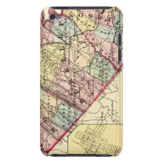 Mapa de los condados de Morgan, de Berkeley, y de  iPod Touch Case-Mate Protectores