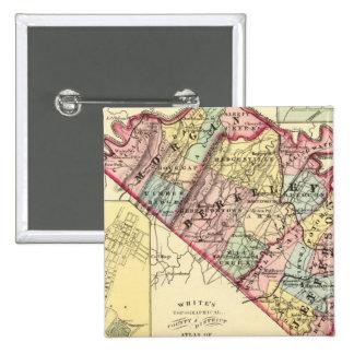 Mapa de los condados de Morgan, de Berkeley, y de  Pin Cuadrado