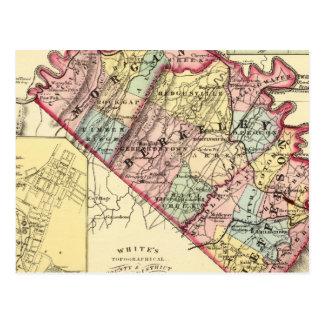 Mapa de los condados de Morgan, de Berkeley, y de Postal