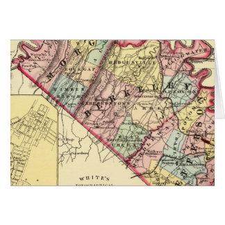 Mapa de los condados de Morgan, de Berkeley, y de  Tarjeta De Felicitación