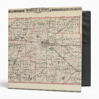 """Mapa de los condados de Morgan y de Scott Carpeta 1 1/2"""""""