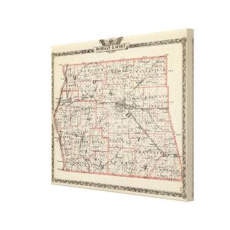 Mapa de los condados de Morgan y de Scott Impresión En Tela