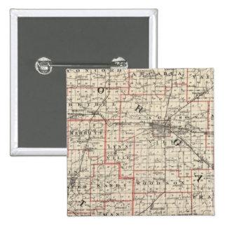 Mapa de los condados de Morgan y de Scott Pin Cuadrado