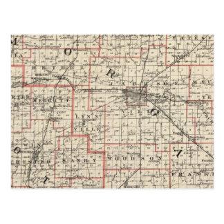 Mapa de los condados de Morgan y de Scott Postal