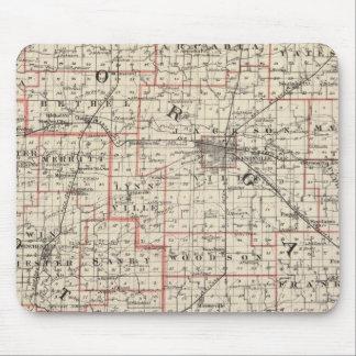 Mapa de los condados de Morgan y de Scott Tapete De Ratones