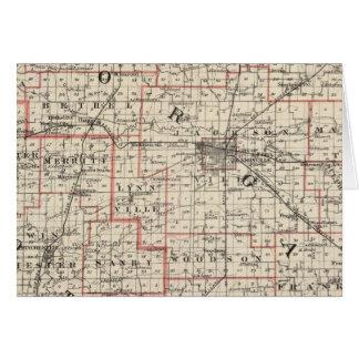 Mapa de los condados de Morgan y de Scott Tarjeta De Felicitación