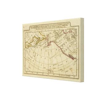 Mapa de los descubrimientos hechos por el cocinero lienzo envuelto para galerías