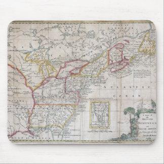 Mapa de los dominios británicos en 1763 mousepad