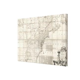 Mapa de los dominios británicos y franceses impresión en lona