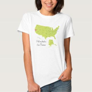 Mapa de los E.E.U.U. - arrastre su camiseta del Remera