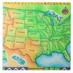 Mapa de los E.E.U.U. Azulejos Cerámicos