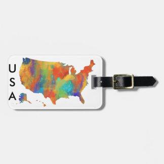 MAPA de los E.E.U.U. - etiqueta del equipaje Etiqueta Para Equipaje
