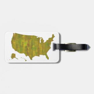 MAPA de los E.E.U.U. - etiqueta del equipaje Etiquetas Bolsas