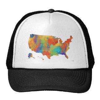 MAPA de los E.E.U.U. - gorra de los camioneros