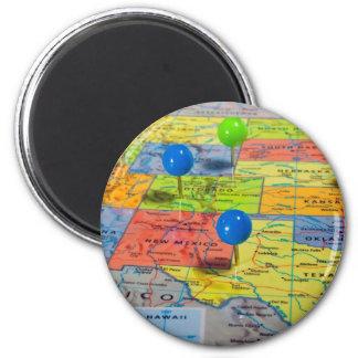 Mapa de los E.E.U.U. Imán Redondo 5 Cm