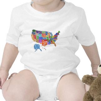 Mapa de los E.E.U.U. Trajes De Bebé