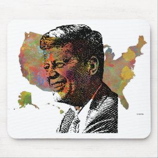 MAPA de los E.E.U.U. que ofrece JFK Alfombrilla De Ratón