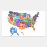 MAPA DE LOS E.E.U.U. RECTANGULAR ALTAVOCES