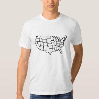Mapa de los E.E.U.U. Remeras