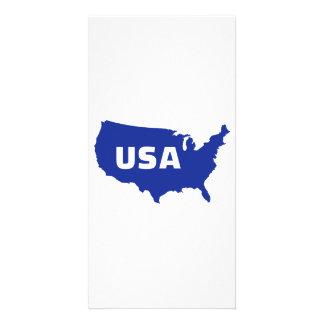 Mapa de los E.E.U.U. Tarjetas Fotográficas