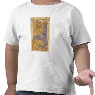 Mapa de los estados atlánticos camisetas