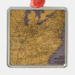 Mapa de los estados atlánticos ornamentos de reyes magos