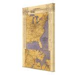 Mapa de los estados atlánticos impresion en lona