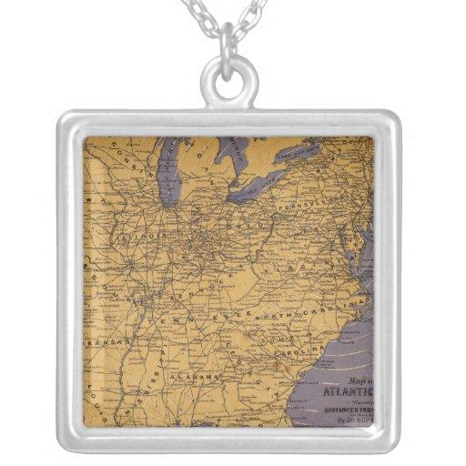 Mapa de los estados atlánticos joyería