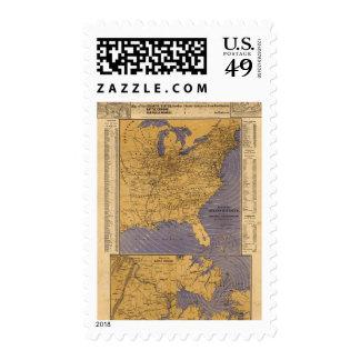 Mapa de los estados atlánticos sello