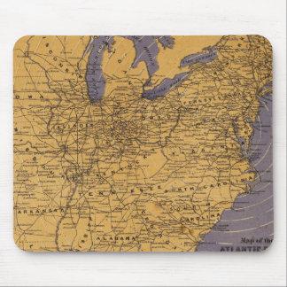 Mapa de los estados atlánticos tapete de ratones