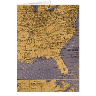 Mapa de los estados atlánticos tarjeton