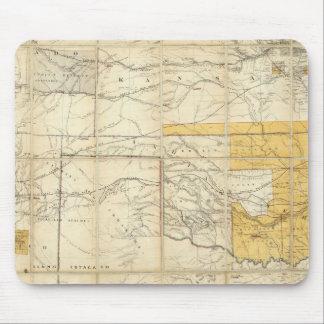 Mapa de los estados de Kansas y de Tejas Alfombrilla De Ratones