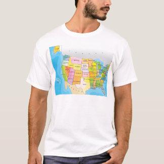 Mapa de los estados de los E.E.U.U. Playera
