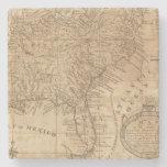 Mapa de los estados de Virginia y de Carolina del Posavasos De Piedra