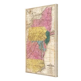 Mapa de los estados medios lona estirada galerias