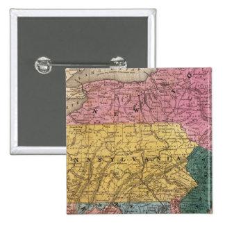 Mapa de los estados medios pin cuadrado