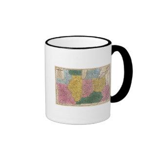 Mapa de los Estados Occidentales Taza De Café