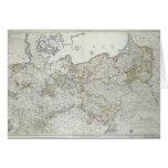 Mapa de los estados prusianos en 1799 tarjeta de felicitación