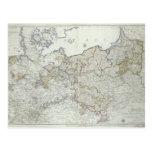 Mapa de los estados prusianos en 1799 tarjeta postal