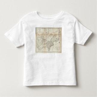 Mapa de los estados septentrionales y medios tee shirt