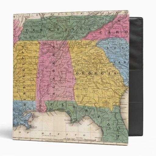 """Mapa de los estados sureños carpeta 1 1/2"""""""