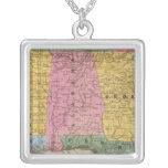 Mapa de los estados sureños colgante cuadrado