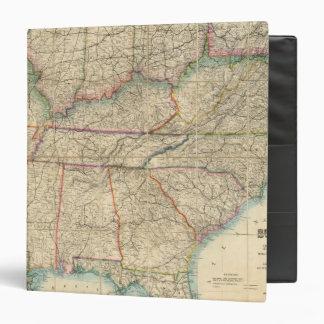 Mapa de los estados sureños de América
