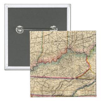 Mapa de los estados sureños de América Pin Cuadrado