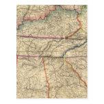 Mapa de los estados sureños de América Postal