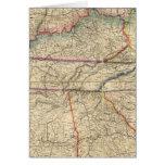 Mapa de los estados sureños de América Felicitacion