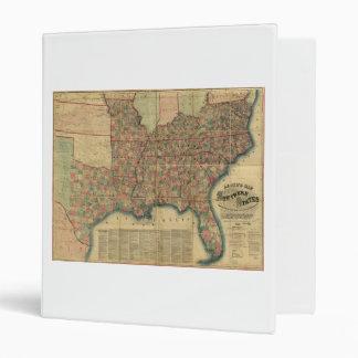 """Mapa de los estados sureños de la guerra civil de carpeta 1"""""""