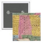 Mapa de los estados sureños pin cuadrado
