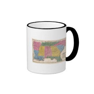 Mapa de los estados sureños taza